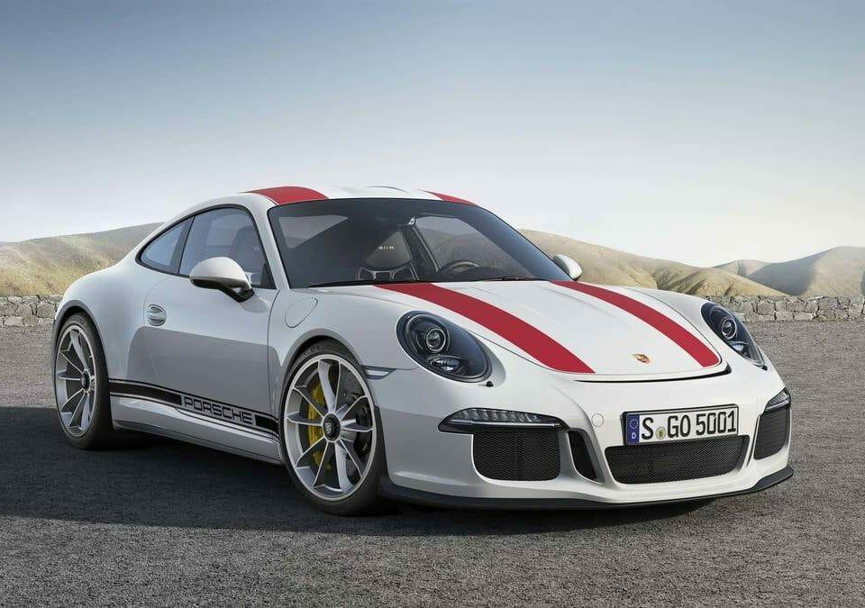 Porsche 911R White Red 1