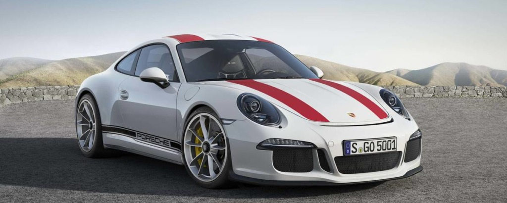 Porsche 911R White Red
