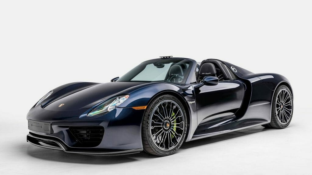 Porsche 918 Spyder Blue