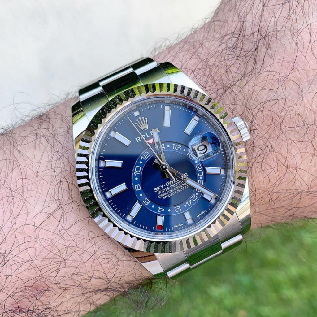 Picture 13 - Rolex Sky-Dweller with a blue dial