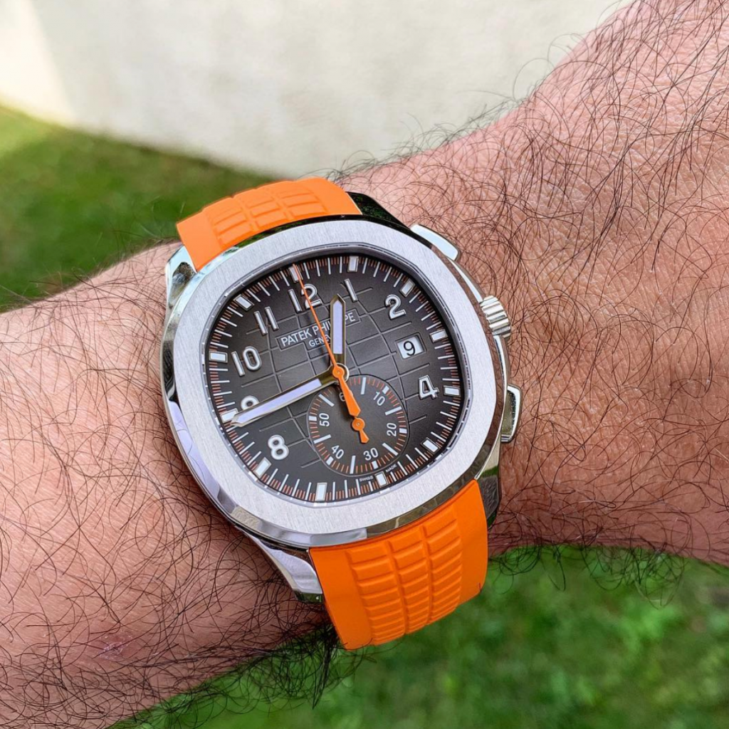 Picture 14 - Patek Philippe 5968AAquanaut Chronograph with an orange strap