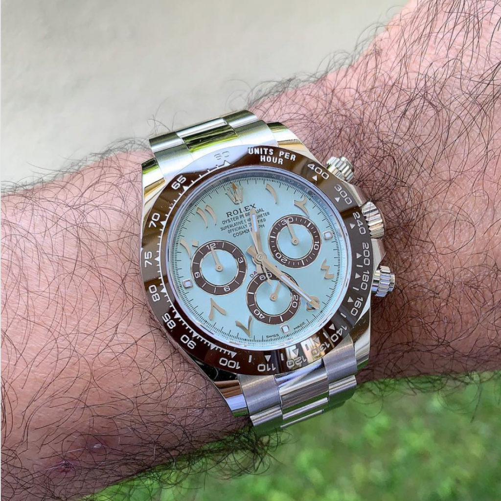 Picture 9 - Rolex Daytona in platinum (Ref. 116506) with an Arabic Dial