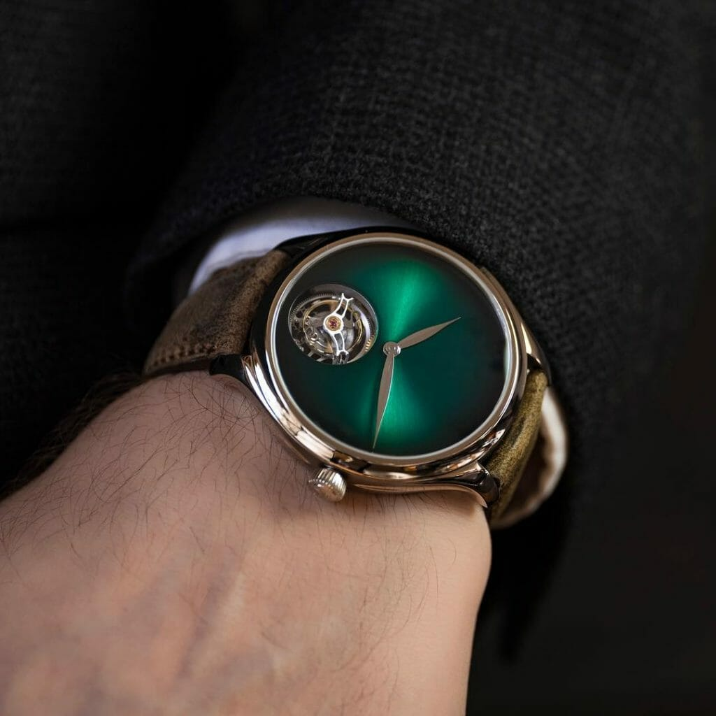 H. Moser & Cie. Endeavour Tourbillon Cosmic Green Cover