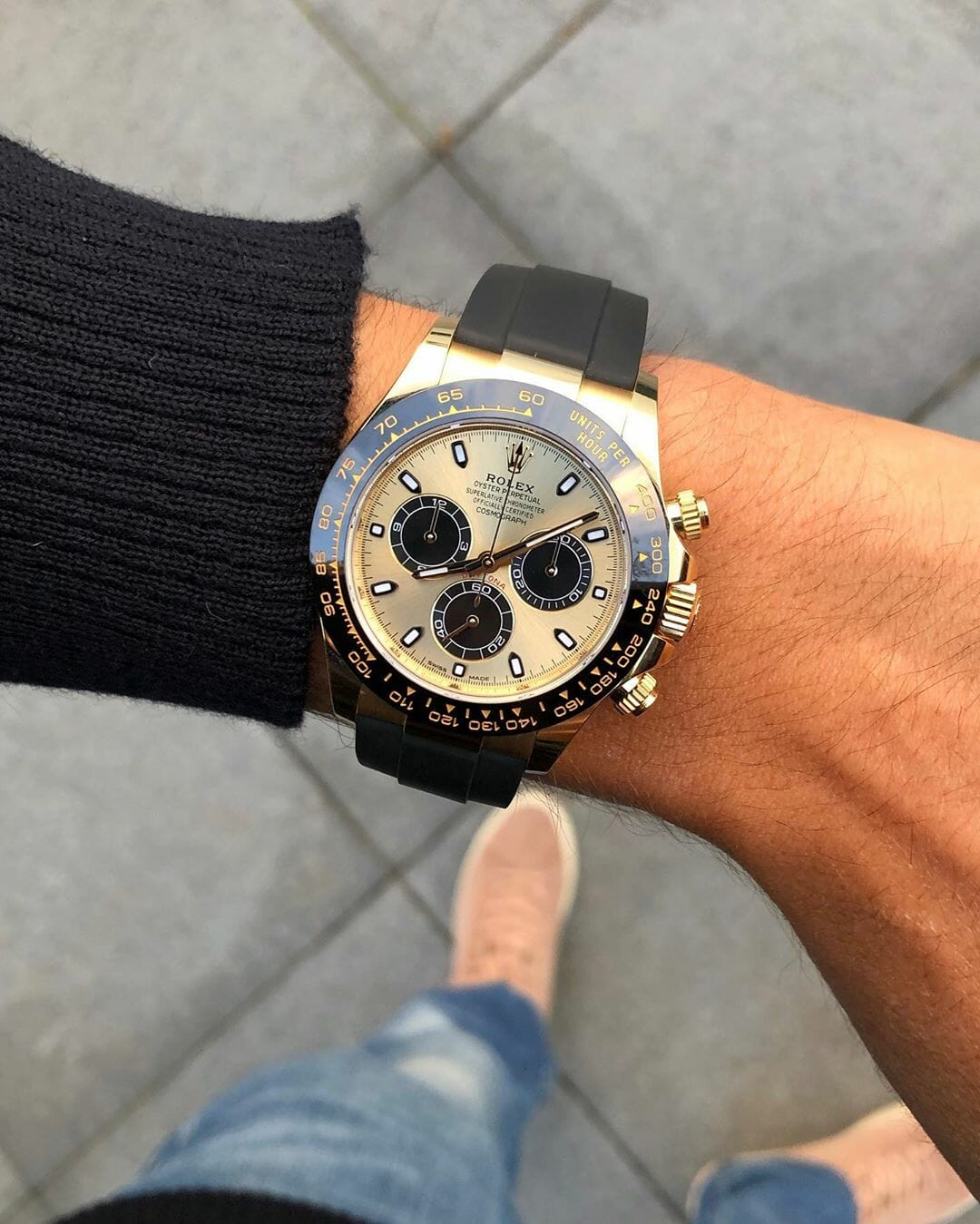 12 Rolex Daytona Oysterflex Strap Yellow Gold by @watchrookiee