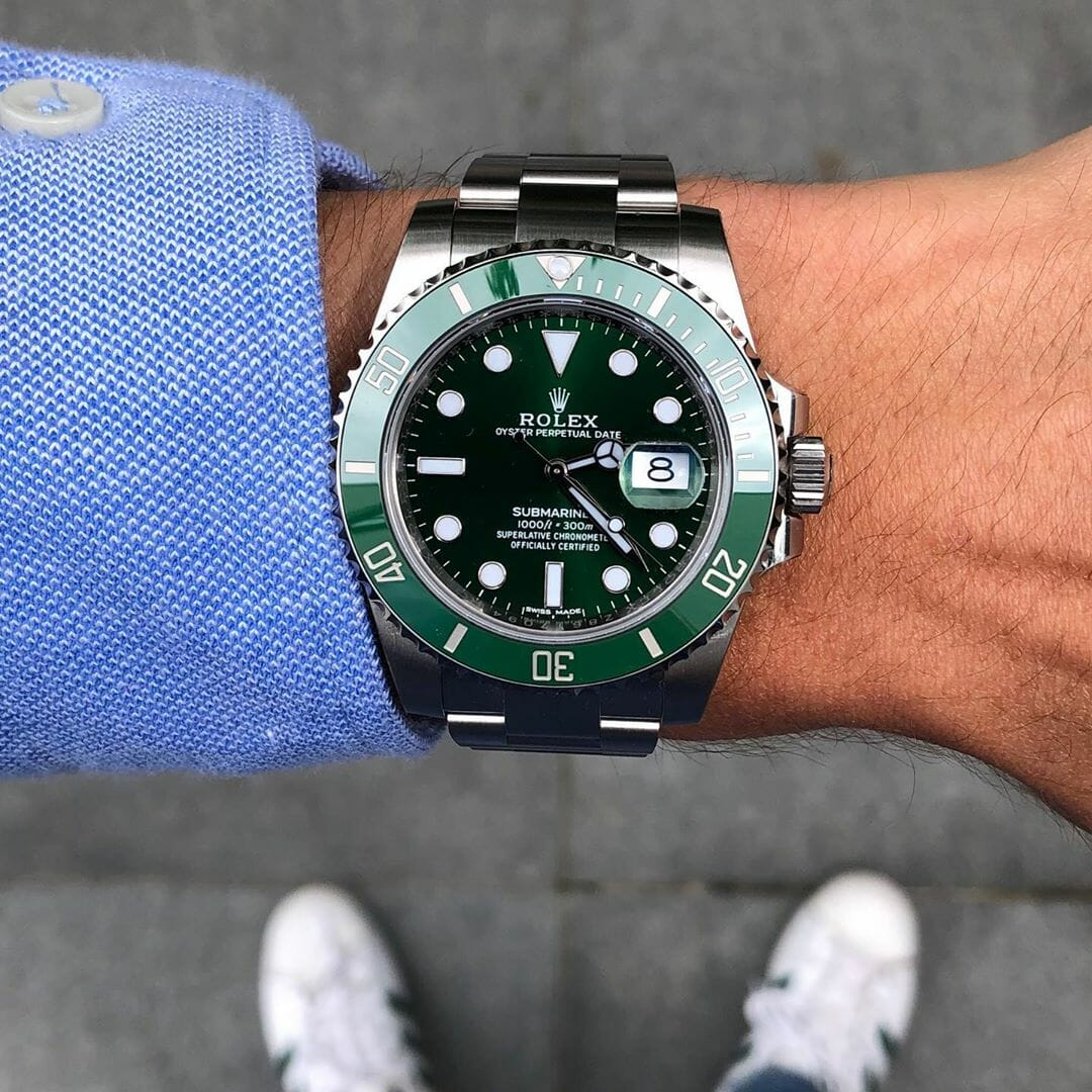 15 Rolex Submariner 116610LV Hulk by IG @watchrookiee