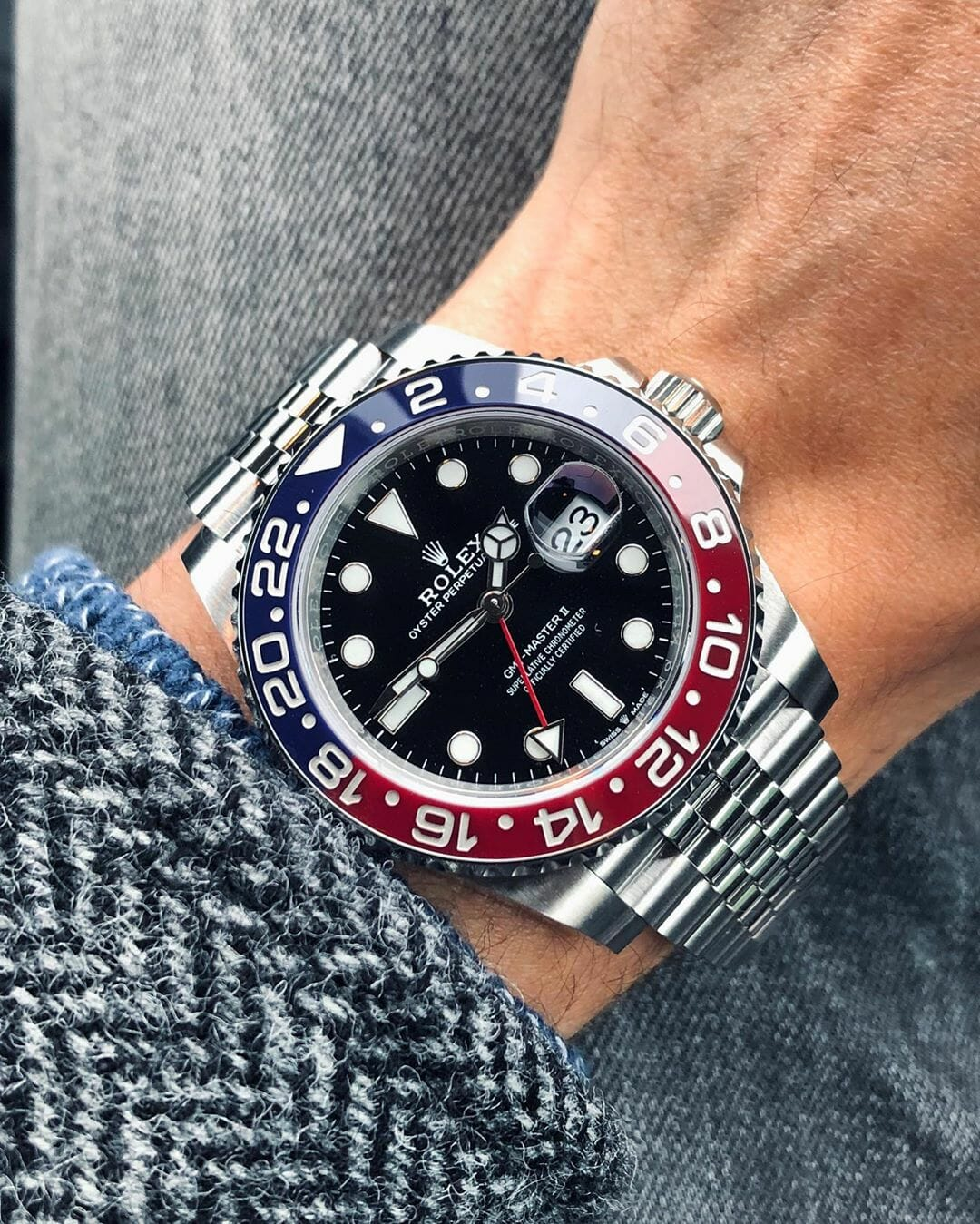 3 Rolex GMT Pepsi 126710BLRO by IG @watchrookiee