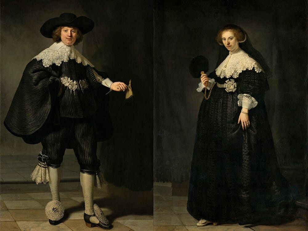 Rembrandt Portrait De Maerten Soolmans and Oopjen Coppit