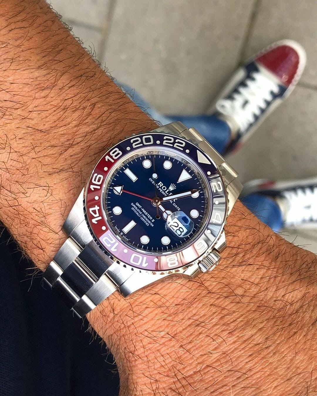 Rolex GMT Master II 116719BLRO by @watchrookiee