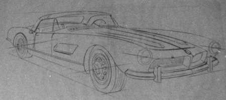 Sketches of the BMW 507